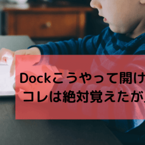 iPad・iPad Proのアプリ使用中にDockを表示する方法|無駄な動作を省ける便利