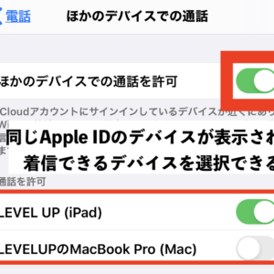 MacとiPhoneに電話着信の連携をON/OFFする設定方法|FaceTimeも